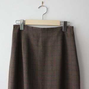 Vintage Brown Plaid Skirt Made in Canada